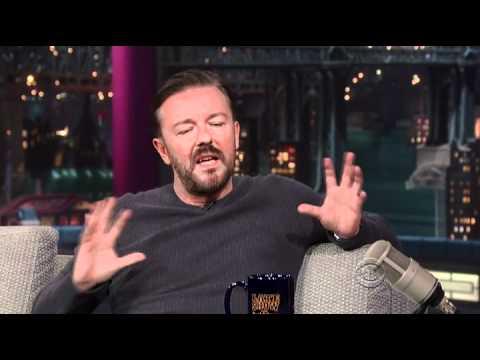 Ricky Gervais podruhé u Davida Lettermana