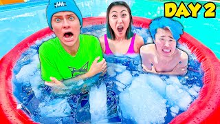 Last to Leave Frozen Hot Tub Wins $10,000!!