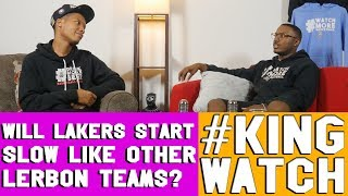 Will Lakers Start Slow Like Lebron Did in Miami? | #KingWatch | Hoops N Brews