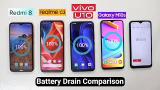 Realme C3 Battery Drain Vs Redmi 8/8A/vivo u10/Samsung M10s