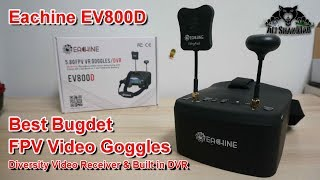 Eachine EV800D 5G8 Diversity DVR Best Budget FPV Video Goggles