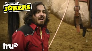 Impractical Jokers Cruise Special - The Rodeo Punishment & Keeping it Wheel Challenge (Clip) | truTV