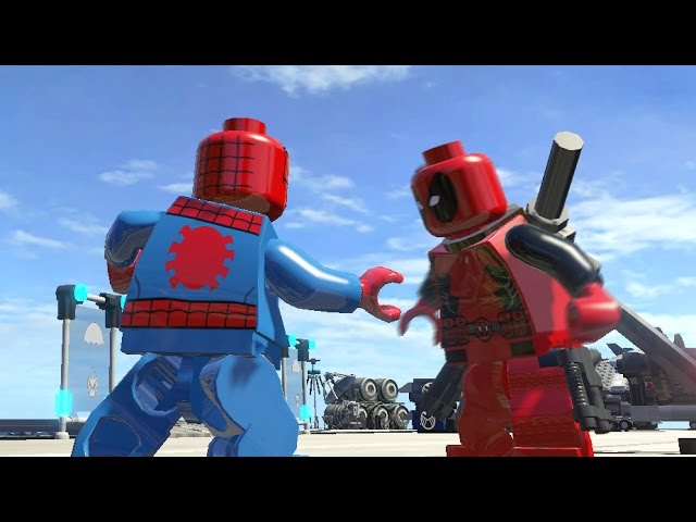 Lego Deadpool Vs Spiderman Battle