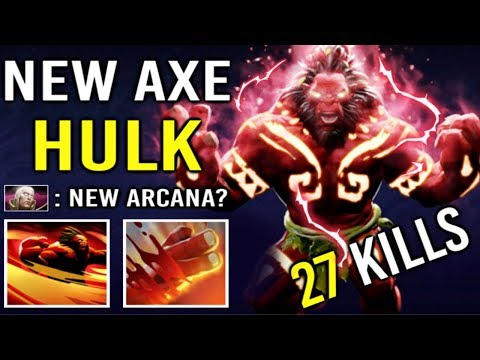 NEW IMMORTAL RED HULK Axe 9 Min Vanguard + Blink Dagger Epic Unleashed Power by Forev 7.21 Dota 2