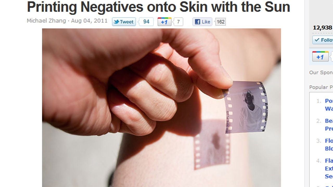 Can You Burn A Photo On Your Skin Using Sunlight?