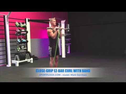 Close-Grip EZ-Bar Curl with Band