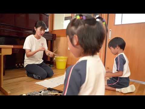 横浜マドカ幼稚園 鼓笛の練習