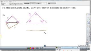 Warm Up   Special Right Triangles   4A