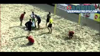 Espeluznante Lesión De Rodilla En Partido De Futbol Playa - Aquenohaypelotas