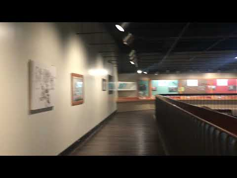 Inside the main museum and visitor center.