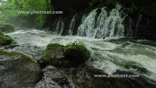 元滝の動画素材と4K写真素材