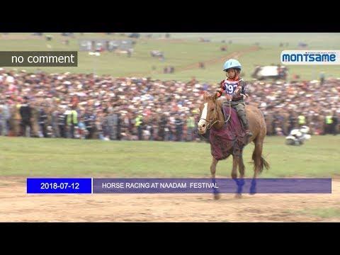 HORSE RACING AT NAADAM FESTIVAL