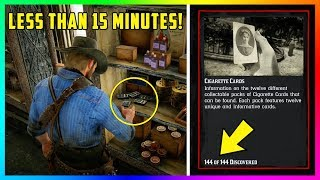 How To Collect ALL 144 Cigarette Cards In LESS Than 15 Minutes In Red Dead Redemption 2! (RDR2)