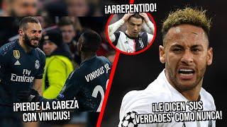 Benzema pierde la cabeza con Vinicius| Dicen sus verdades a Neymar como nunca antes| CR7 Arrepentido