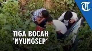 Video Jambret Topi Anak SD, 3 Bocah Nyungsep di Selokan, Emak-emak: Bukan Masalah Harganya, Tuman!