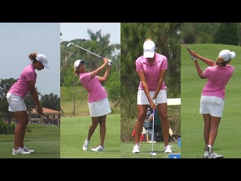 CHEYENNE WOODS (NIECE OF TIGER WOODS) – 2014 GOLF SWING FOOTAGE REGULAR & SLOW MOTION 1080p HD