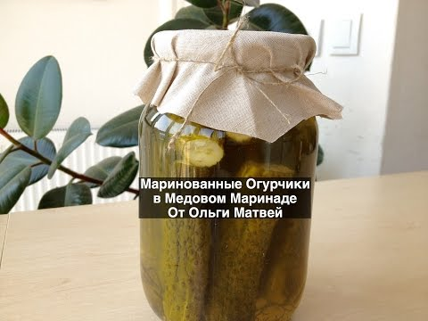 Очень Вкусные Маринованные Огурчики (Огурцы) в Медовом Маринаде (Pickled Cucumbers with Honey)