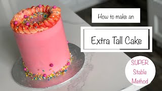 How to Make an Extra Tall Versatile Cake (Double Barrel Cake) | Watch till the End to See What I Add