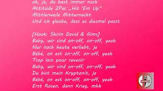 SHIRIN DAVID Feat. GIMS   On Off [Official Lyrics]