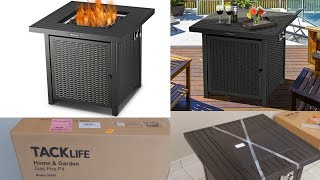 TACKLIFE Propane Fire Pit Table Installation Instructions