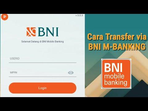 CARA TRANSFER VIA BNI MOBILE BANKING - M BANKING BNI || IndriaLesmana