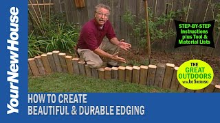 Make Your Own Edging from Landscape Timbers - The Great Outdoors