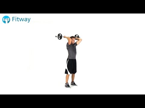 How To Do: EZ Curl Bar Triceps Extension - Standing | Arm Workout Exercise