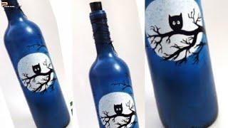 Bottle Painting | Bottle Art | Simple And Easy Bottle Design Ideas