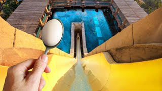 Impossible Egg & Spoon Water Slide Challenge!