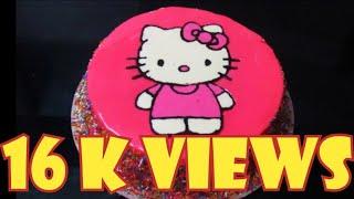 How To Make Hello Kitty Cake Cartoon Character Hello Kitty Chocolate Truffle Cake SanJinis Cakes