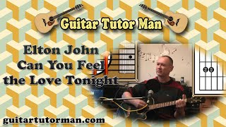 Can You Feel The Love Tonight - Elton John (The Lion King) - Acoustic Guitar Lesson (easy)