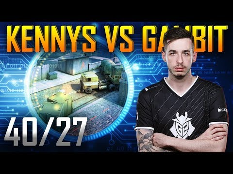 POV kennyS vs Gambit - Overpass | KDA 40/27