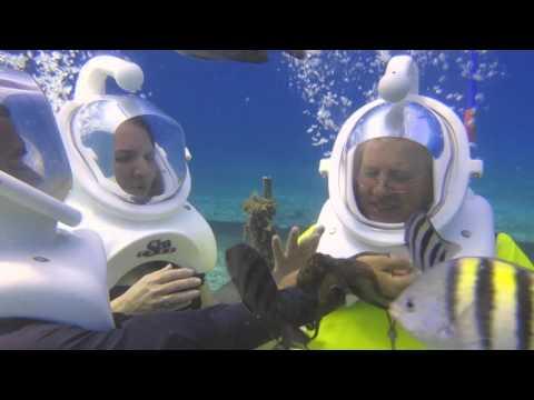Blue Water Sea Trek Helmet Diving & Snorkel in Cozumel Mexico – 4/26/16