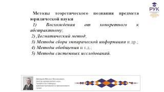 История и методология юридической науки Чебоксары