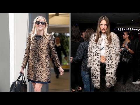 How to Wear a Leopard Print Coat Trend | Celeb Style