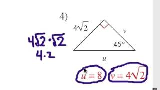 Special Right Triangles: 45-45-90 Shortcuts