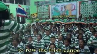 Thai Tims learning to sing a song for Gary & Paul O'Donovan
