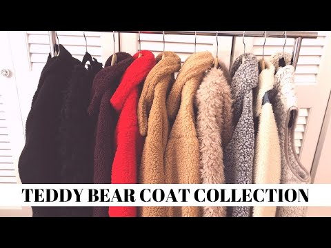 TEDDY BEAR COAT COLLECTION & TRY ON | Isabel Galvin