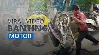 Cerita Seorang Pria Mengamuk dan Banting Motor karena Tak Terima Ditilang, Kini Videonya Viral