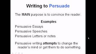 Authors Purpose And Modes Of Writing | Common Core Reading Skills Video