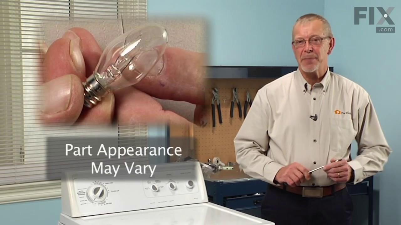 Replacing your Whirlpool Refrigerator Light Bulb - 10W