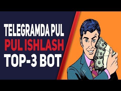 TELEGRAMDA PUL ISHLASH TOP-3 BOT