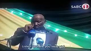 Nomvula Mokonyane Versus Bheki Cele!!! *funny*