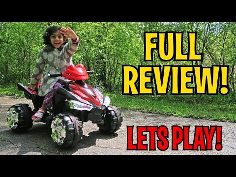 UNBOXING & LETS PLAY - Kids Ride On ATV Quad 4 Wheeler RC - FULL REVIEW!