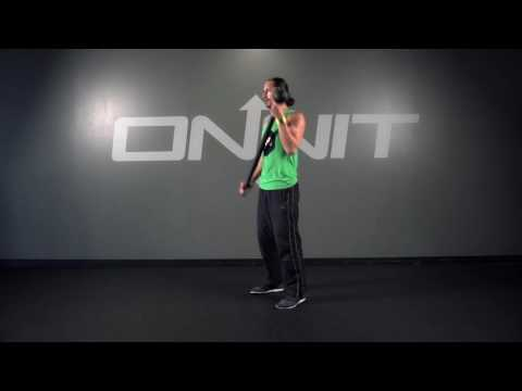 Offset Curl to Vertical Steel Mace Exercise
