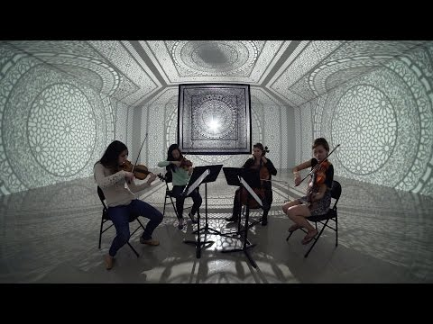 Shepherd School of Music string quartet performs 'The Named Angels' in Rice Gallery