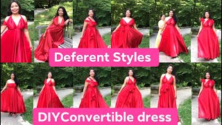 How To Style The Convertible Dress/ Infinity Dress/ Convertible Dress Wear It In Deferent Style
