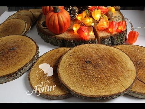 Deko Tipps I Dekoschale oder Servierplatte aus Naturholz