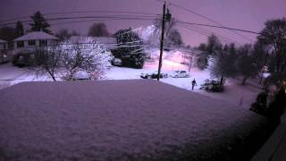 preview picture of video 'Winter storm Damon 2014 Vermont, Rutland County time-lapse HD'
