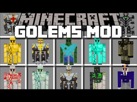 Minecraft MORE GOLEM MOD / BUILD GOLEMS TO FIGHT THE ZOMBIE APOCALYPSE!! Minecraft Mods